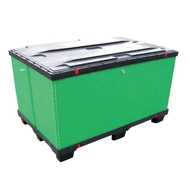 Collapsible pallet container LT
