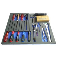 Foam trays for tools